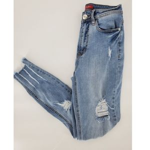Guess distressed jeans 26 skinny high rise